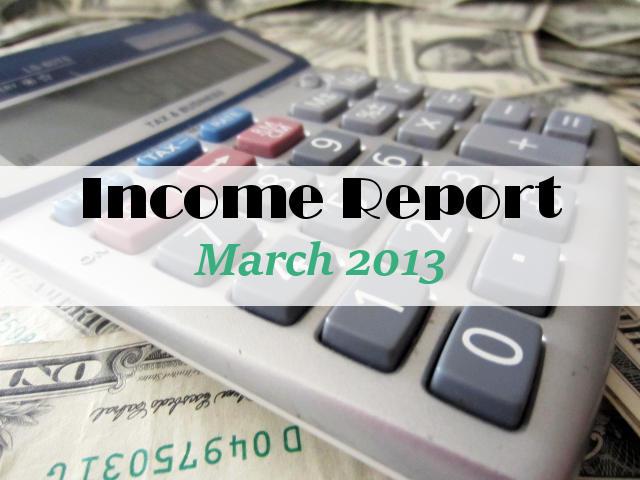 Income Report March 2013