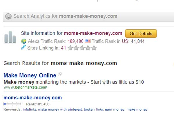 Alexa Ranking for Bloggers. Why you should use the Alexa Toolbar to improve your ranking - from Moms Make Money