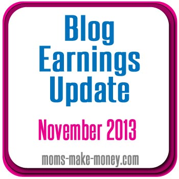 Nov 2013 Blog earnings updated.