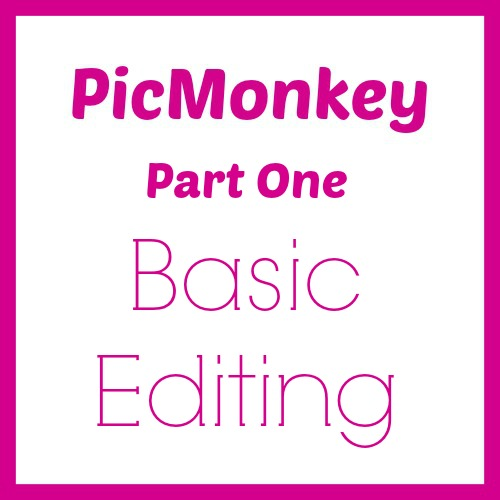 Basic photo editing with PicMonkey. How to create great photos for your blog.