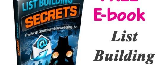Free e-book Friday – List Building Secrets