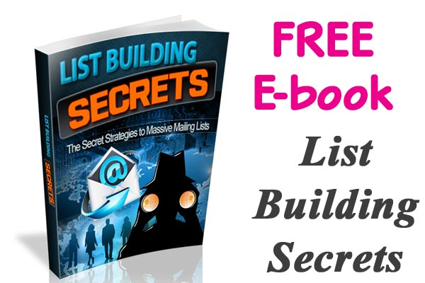 Free e-book. List building secrets
