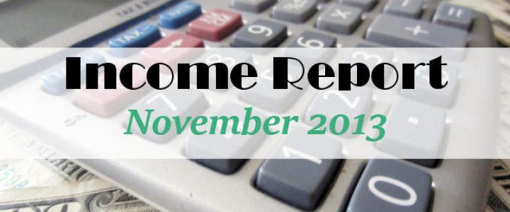 Income Report November 2013