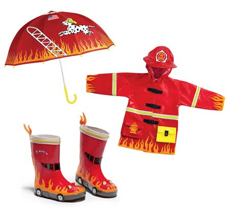 Kidorable - fireman raincoat set