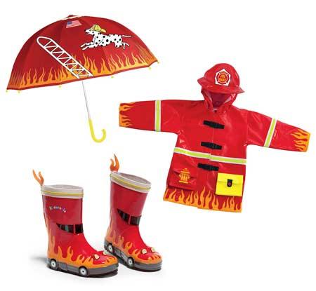 Kidorable - fireman raincoat set
