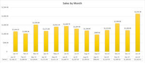 Sales Graph January 2016